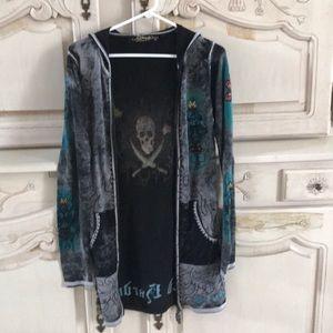 Ed Hardy Vintage sweater jacket! So cool